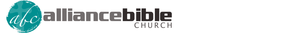 Alliance Bible Church   A Christ-centered, Acts 1:8 family logo