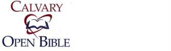 Calvary Open Bible logo