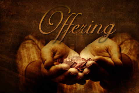 for your offering  may...