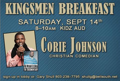 Christian Life Church / Calendar & Events / Kingsmen Breakfast