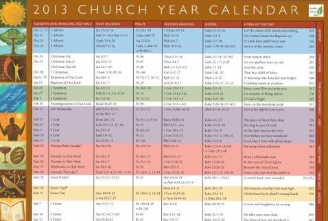 Elca Lutheran Liturgical Calendar 2016 Printable | Calendar Template ...
