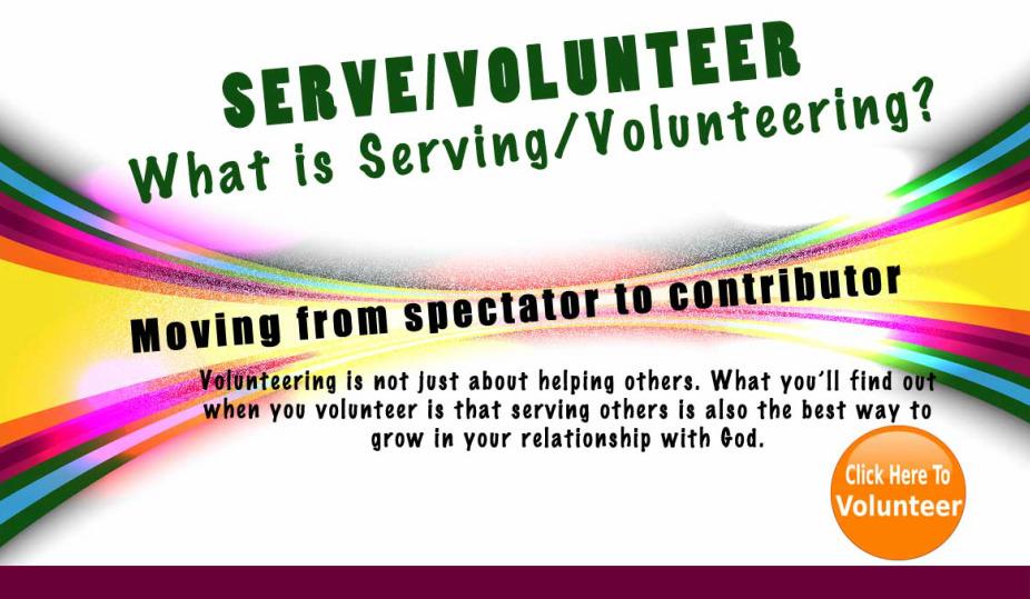 Crossroads Bible Church / Serve / Serve/volunteer Form
