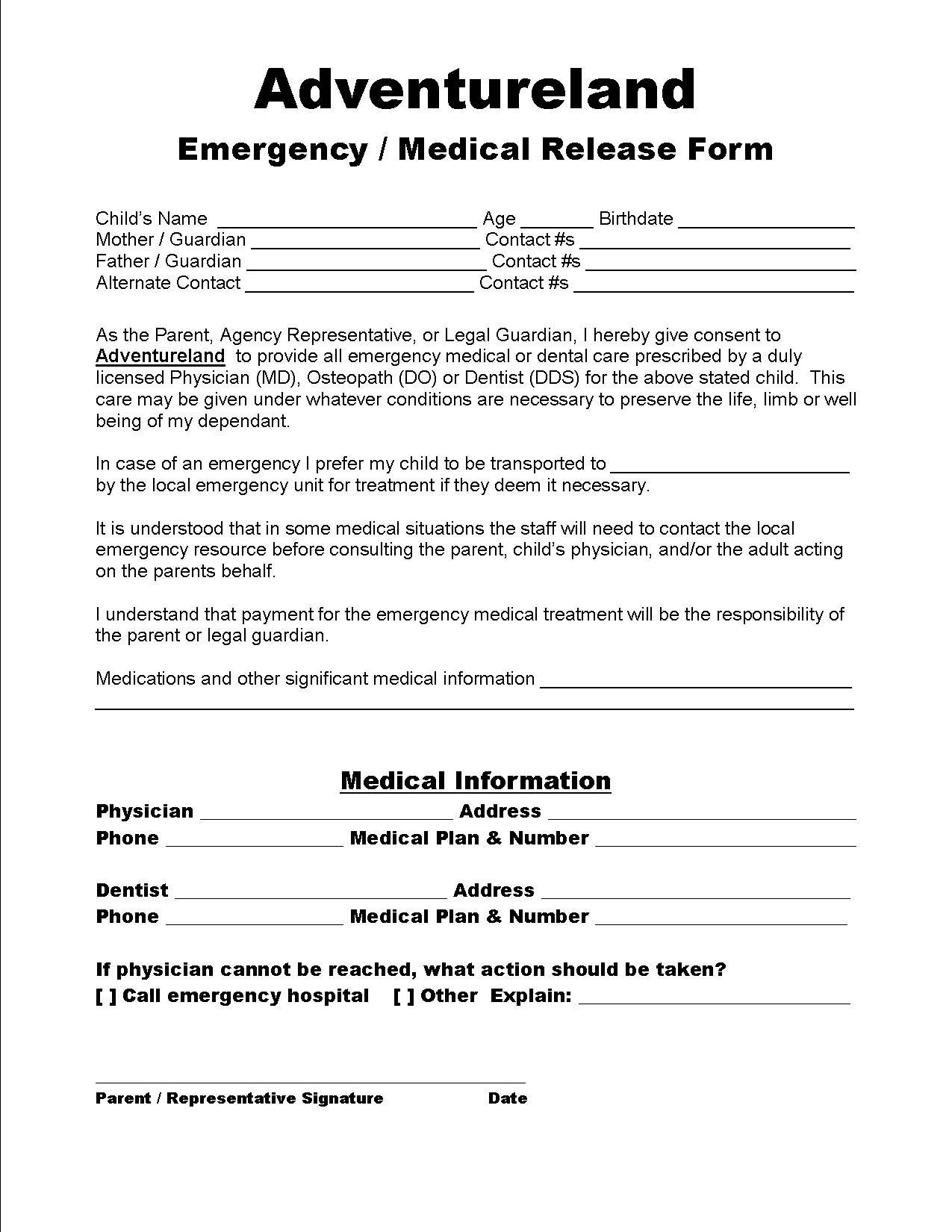 Crosswind Community Church School School Forms – Emergency Contact Forms