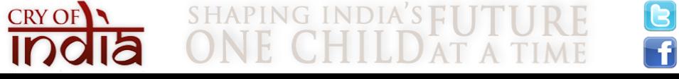 Cry of India - A Child Sponsorship Program logo