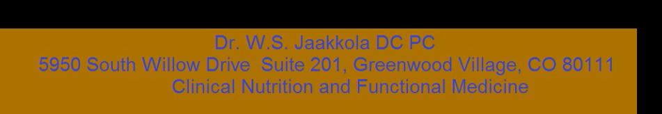 Dr. W. S. Jaakkola DC PC logo