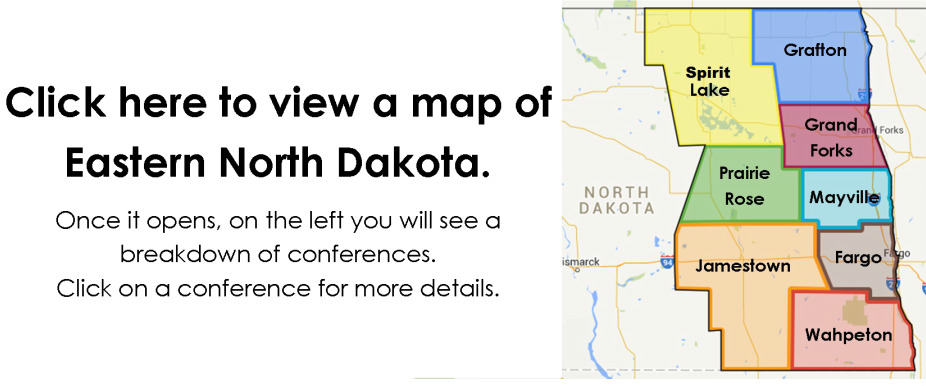 Eastern North Dakota Synod | About Us | Map Of Eastern Nd