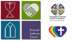 Emanuel Lutheran Church: The Church that Love Builds logo