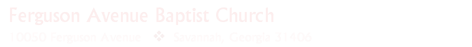 Ferguson Avenue Baptist Church logo