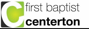 First Baptist Church Centerton, AR logo