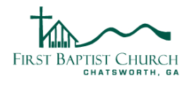 First Baptist Church of Chatsworth logo