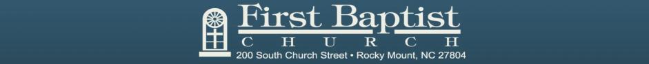 First Baptist Church, Rocky Mount logo