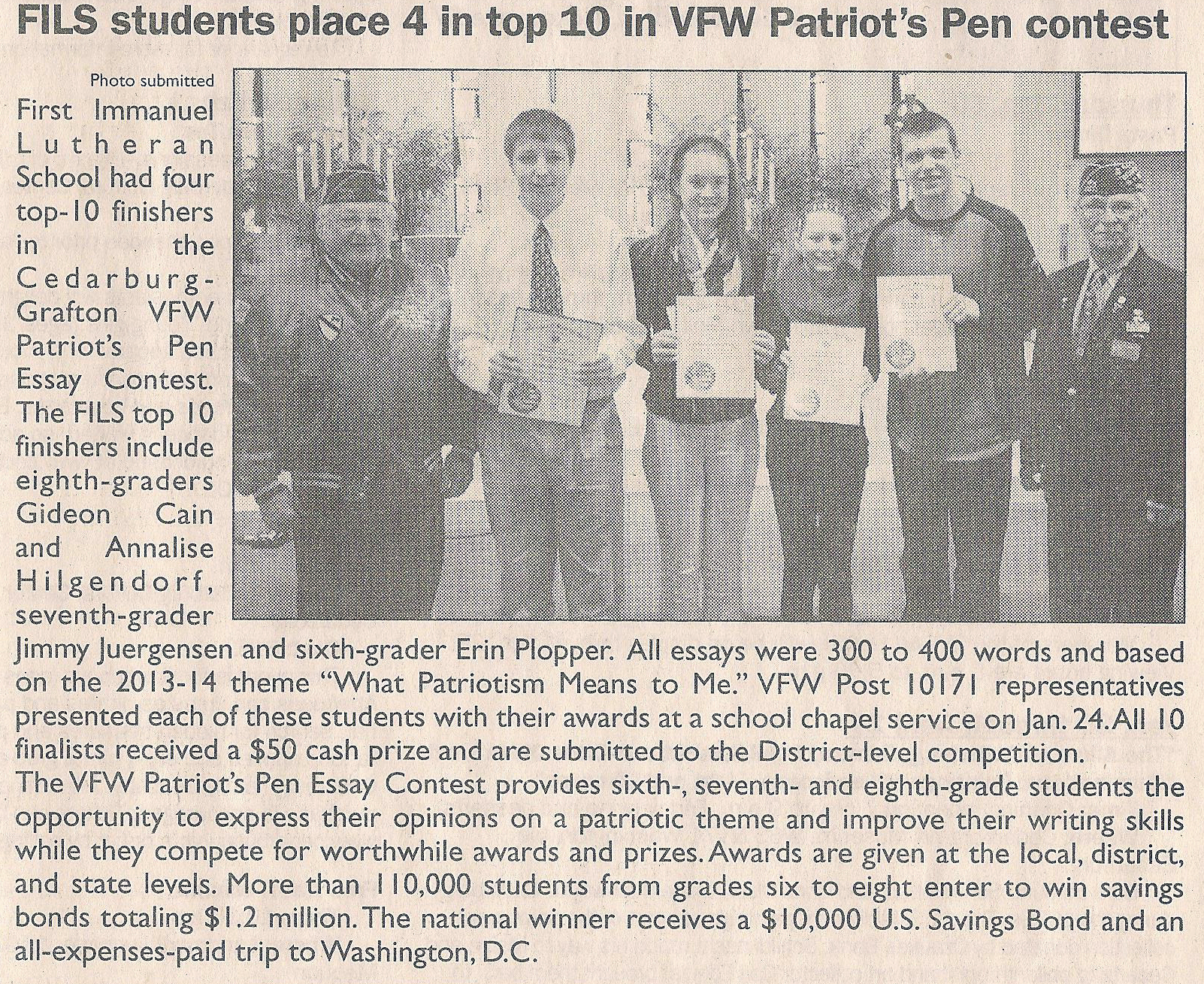 vfw essay 2013 Patriots pen patriot's pen each her essay on the 2013-2014 theme vfw – veterans of foreign wars vfw – youth activities vfw department of oregon.