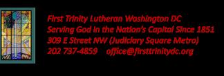 First Trinity Lutheran Church logo