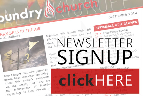Foundry Church  WhatS Happening  Monthly Newsletter