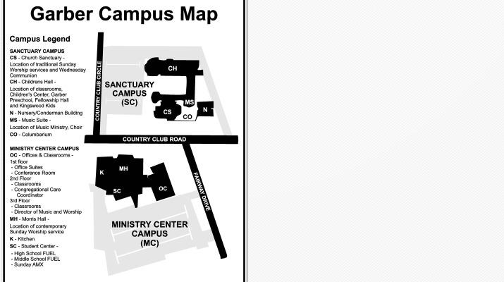 Garber United Methodist Church Welcome To Garber Garber Campus Map
