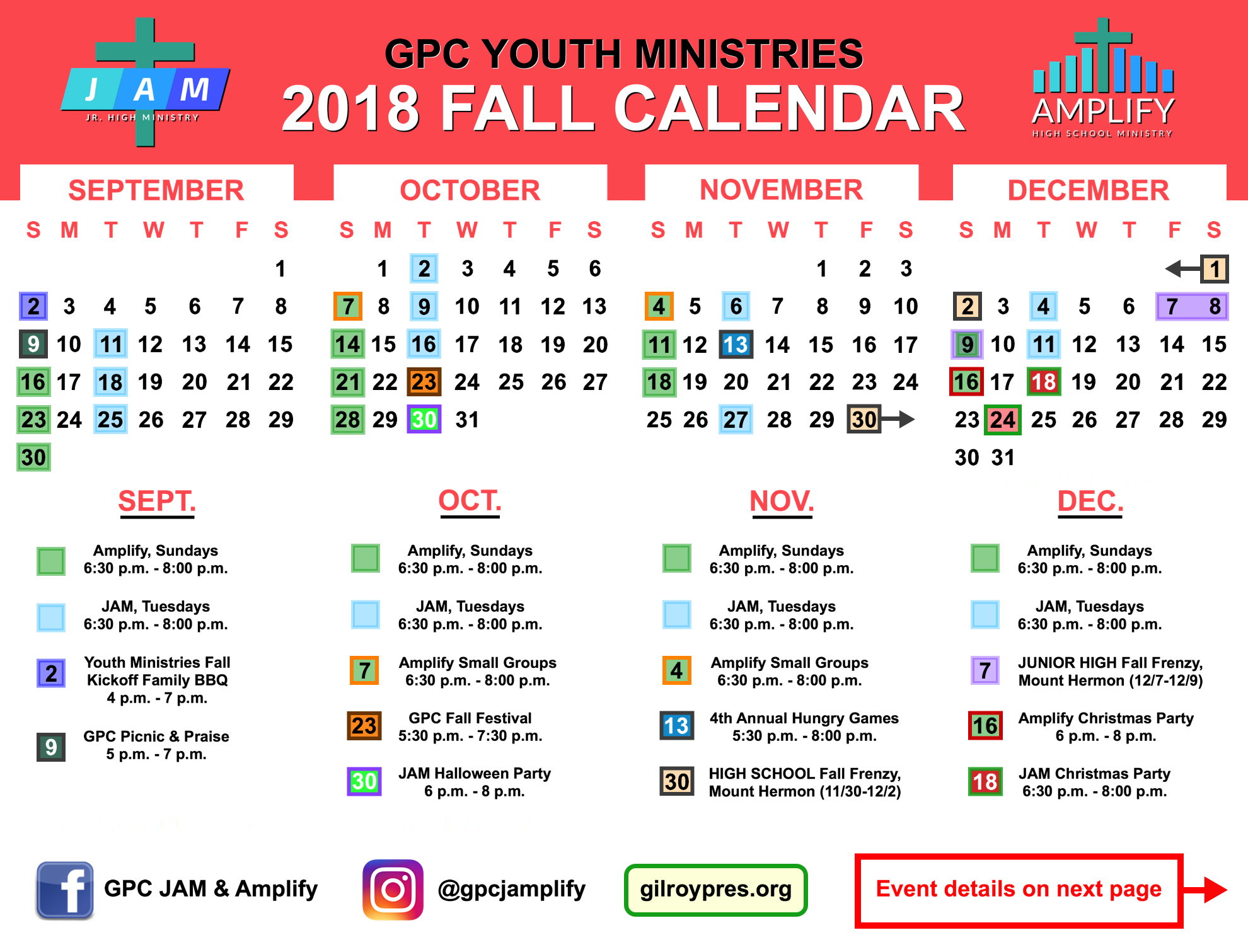 gilroy presbyterian church youth ministries calendar events forms