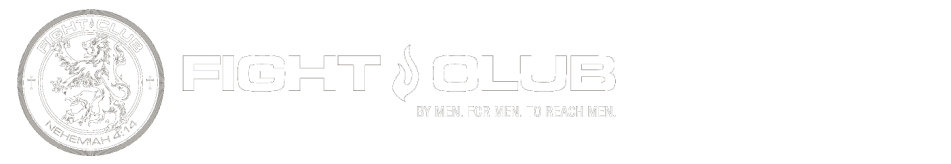 FIGHT CLUB • By Men. For Men. To Reach Men. logo