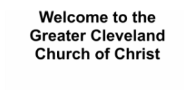 Greater Cleveland Church of Christ logo
