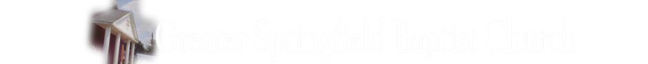 Greater Springfield Baptist Church logo