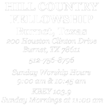 Hill Country Fellowship . Connecting with Jesus.  Connecting with others. logo