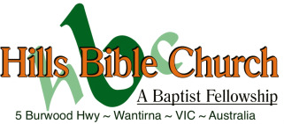 Hills Bible Church in Wantirna, Victoria, Australia.  Serving the Eastern Suburbs of Melbourne, VIC, AU logo