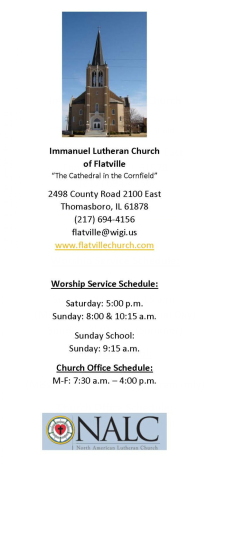 Immanuel Lutheran Church of Flatville logo