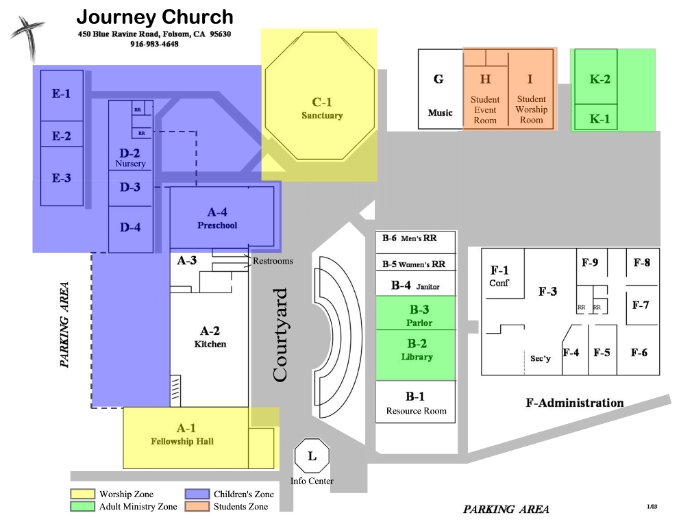 Campus Map / When & Where / Journey Church of Folsom