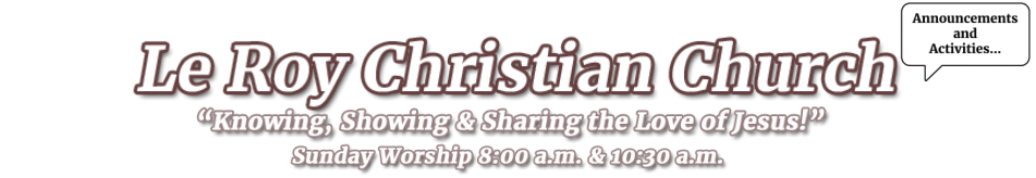Le Roy Christian Church logo
