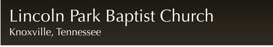 Lincoln Park Baptist Church, Knoxville, TN logo