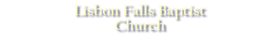 Lisbon Falls Baptist Church logo