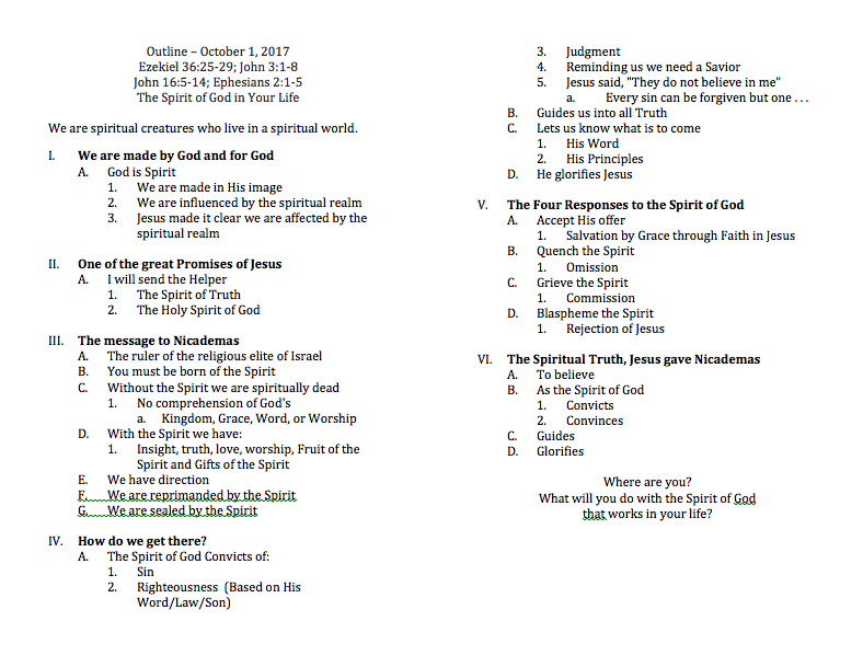 Sermon Series Outline Guide