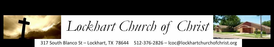 Lockhart Church of Christ logo