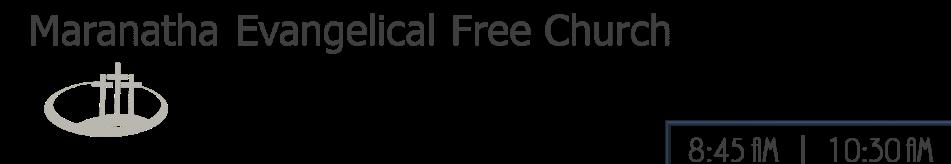 Maranatha Evangelical Free Church logo