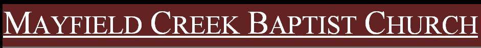 Mayfield Creek Baptist Church logo