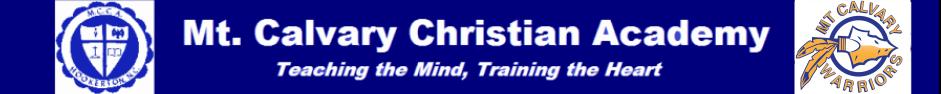 Mt. Calvary Christian Academy logo