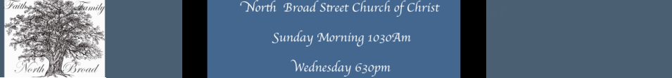 North Broad Street Church of Christ logo