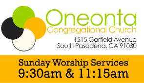 Oneonta Congregational Church, South Pasadena logo