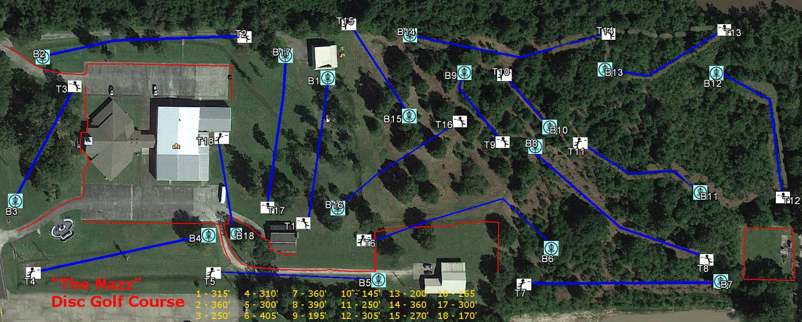 Orange First Church Of The Nazarene New Disc Golf Course - Us Open Course Map