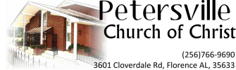 Petersville church of Christ logo