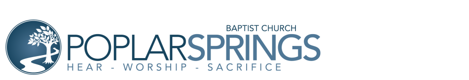 Poplar Springs Baptist Church of Ringgold, GA logo