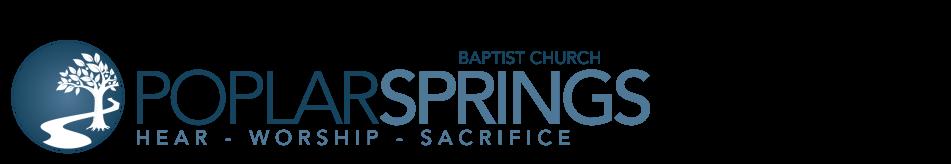 Poplar Springs Baptist Church of Ringgold, GA logo