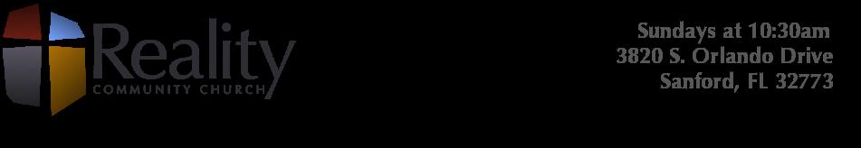 Reality Community Church : Sanford Church : Lake Mary Church logo