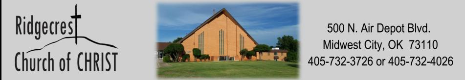 Ridgecrest Church of Christ logo