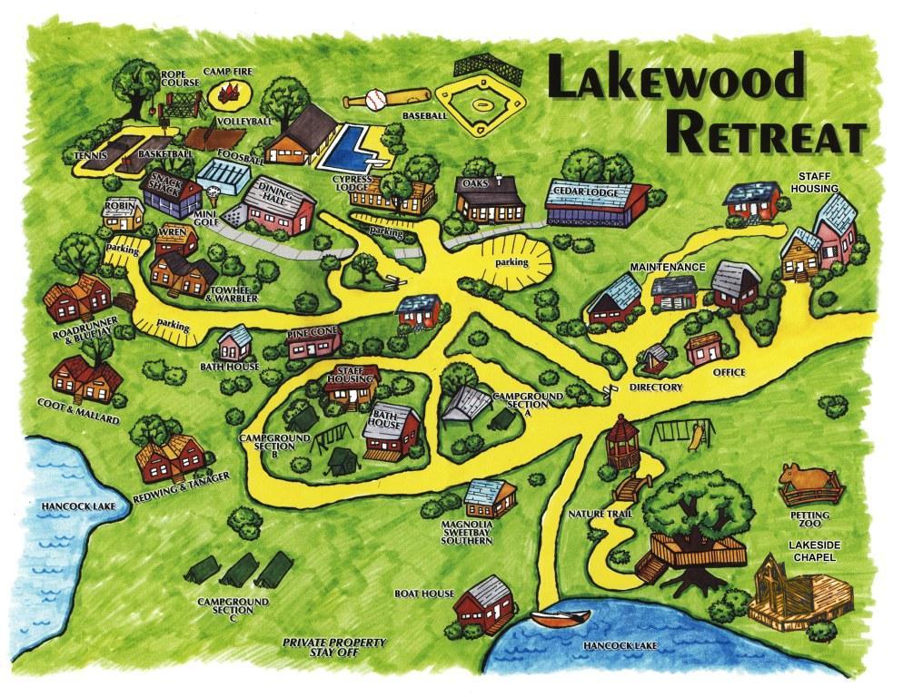 Florida Camping Map.Lakewood Retreat Christian Camp Links Maps More Downloads