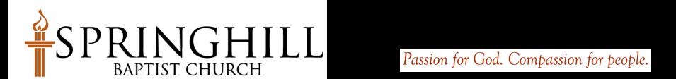 Springhill Baptist Church logo