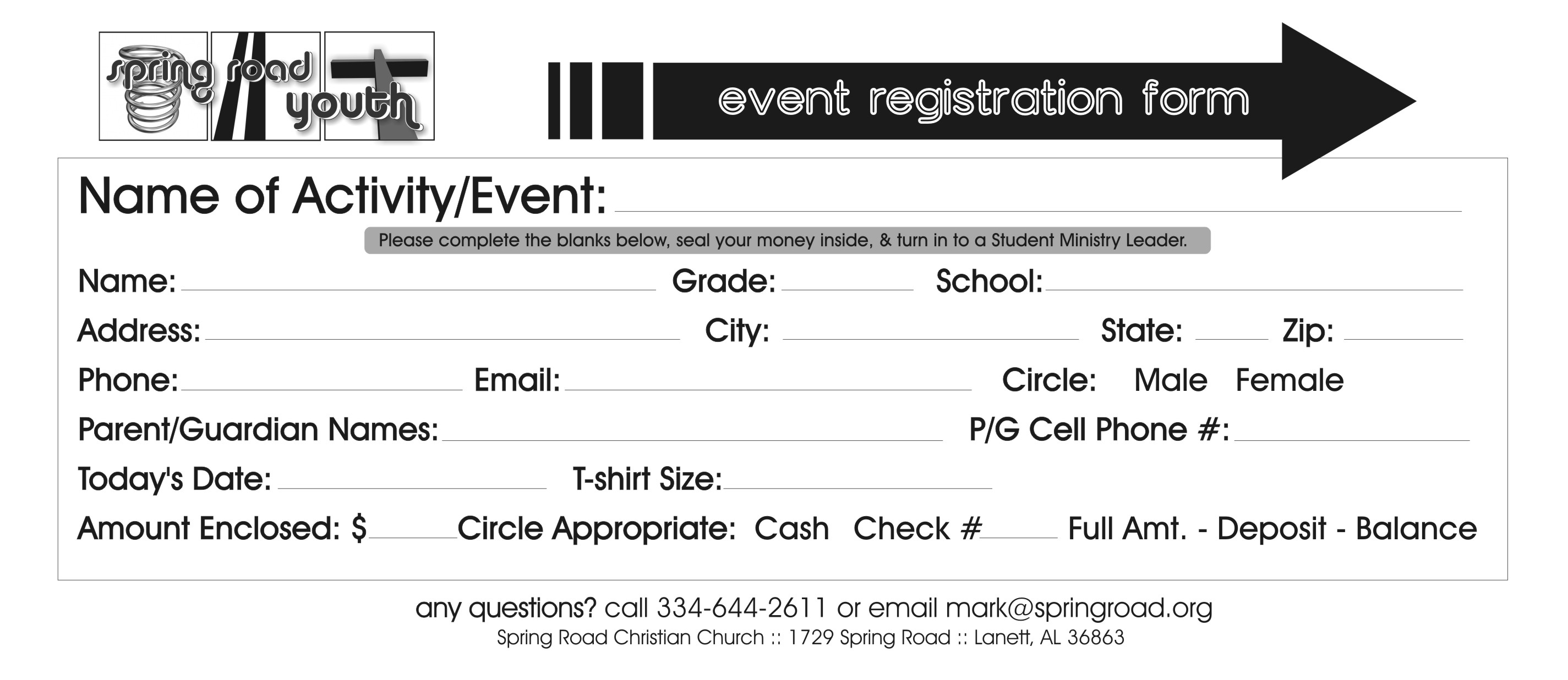 Church Event Registration Form Pictures to Pin – Event Registration Form Template Word