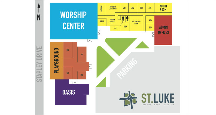 St Luke Lutheran Church About Us Campus Map - Us campus map