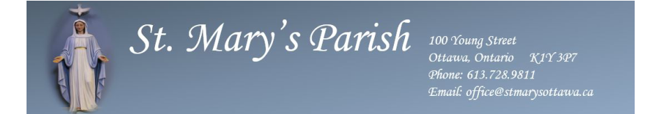 St. Mary's Parish logo