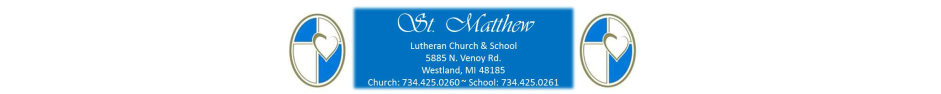 St. Matthew Lutheran Church and School logo