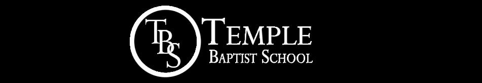 Temple Baptist School logo